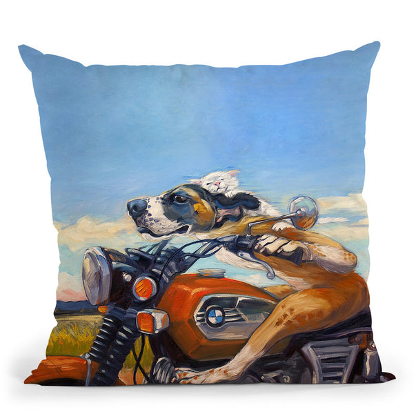 Fast And Furriest Throw Pillow By Image Conscious - by all about vibe