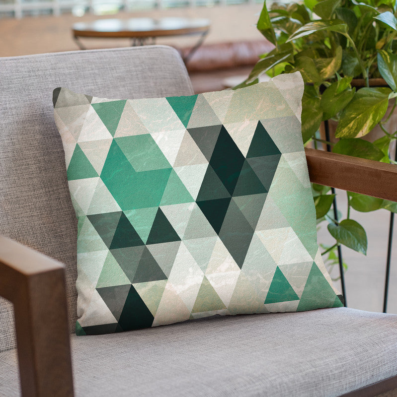 Triangle Pattern Throw Pillow By Image Conscious - by all about vibe
