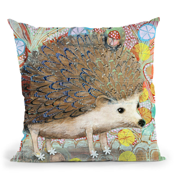 Hedgie Throw Pillow By Image Conscious - by all about vibe