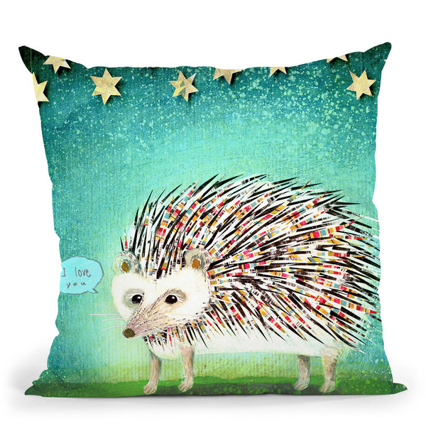 Porcupine For Thomas Throw Pillow By Image Conscious - by all about vibe