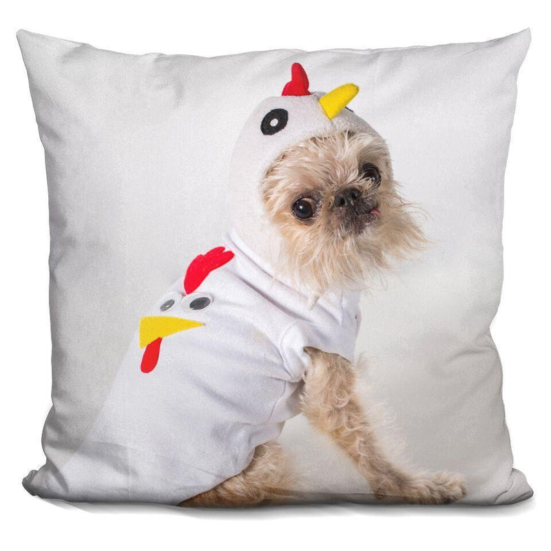 Full Chicken 'Owen' Square Pillow