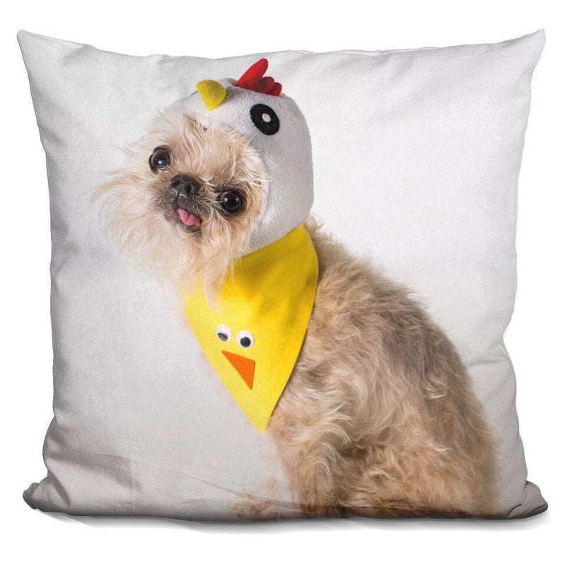 Chicken Bib 'Owen' Square Pillow