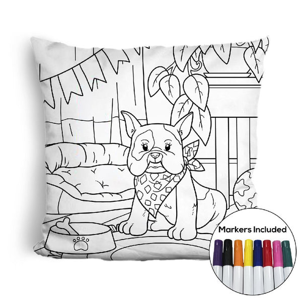 French bulldog home coloring pillow Made In USA