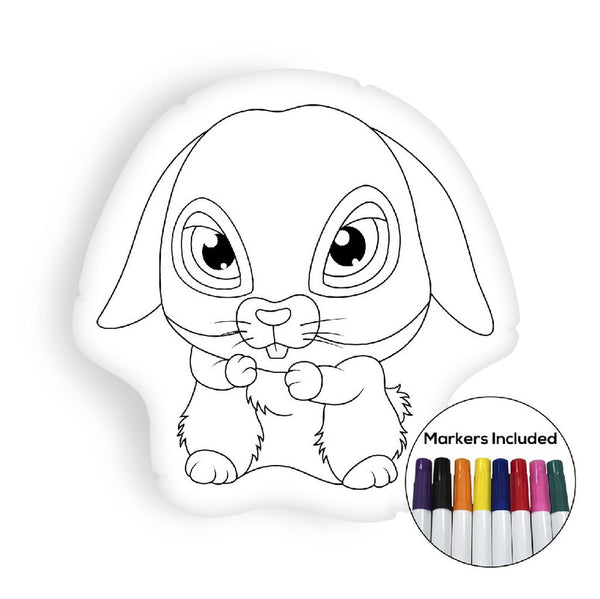 Bunny coloring pillow Made In USA