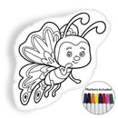 Butterfly cartoon coloring pillow Made In USA