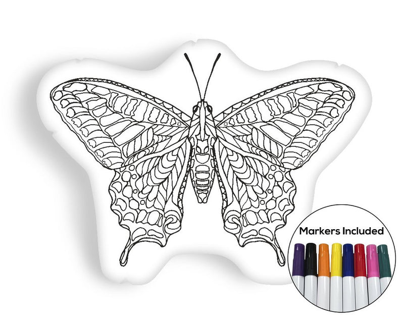 Butterfly coloring pillow Made In USA