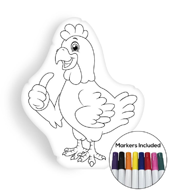 Chicken coloring pillow Made In USA