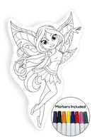 Cute fairy coloring pillow Made In USA