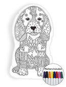 Dog coloring pillow Made In USA