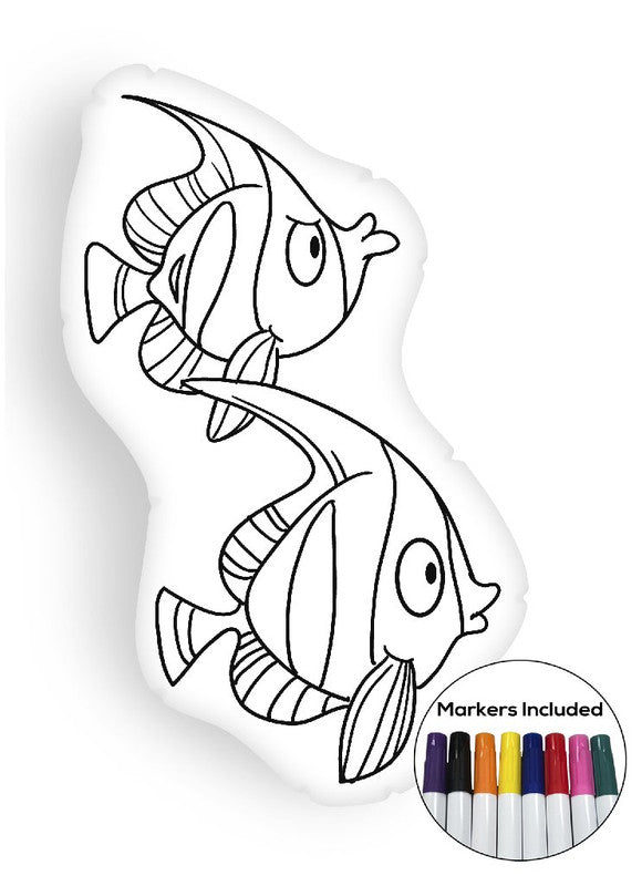 Fish I coloring pillow Made In USA