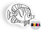 Fish II coloring pillow Made In USA