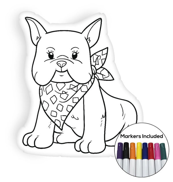 French Bulldog coloring pillow Made In USA