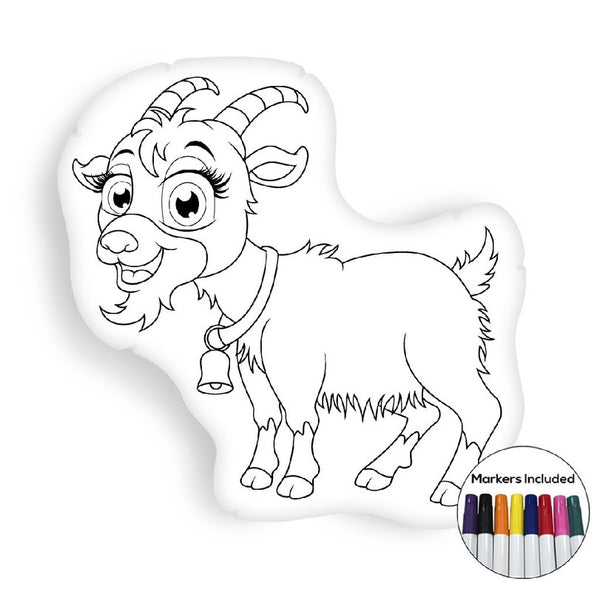 Goat coloring pillow Made In USA
