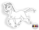 Horse coloring pillow Made In USA