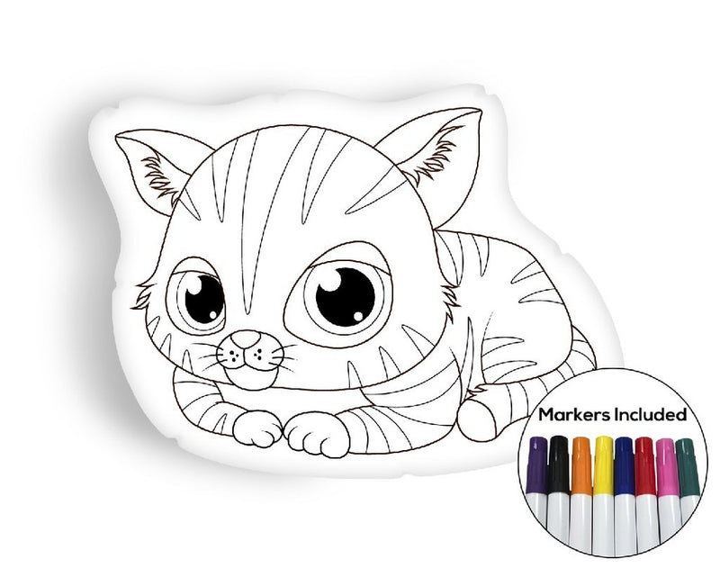 Kitten coloring pillow Made In USA