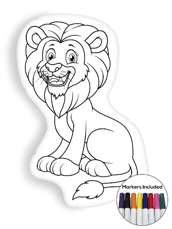 Lion coloring pillow Made In USA