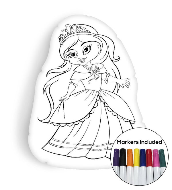 Little Princess coloring pillow Made In USA