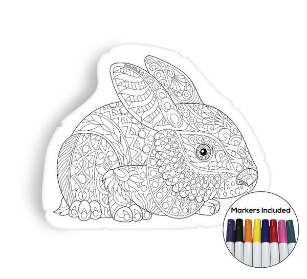 Little rabbit coloring pillow Made In USA
