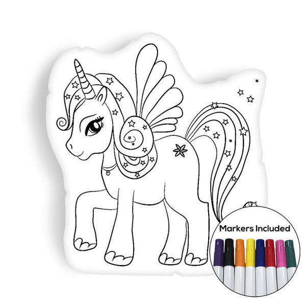Magical unicorn coloring pillow Made In USA