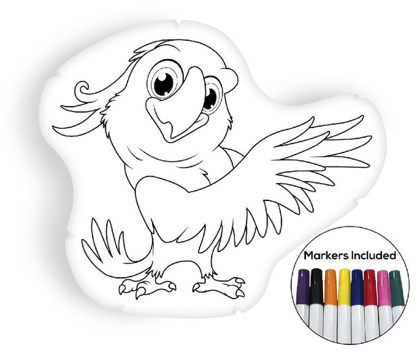 Parrot coloring pillow Made In USA