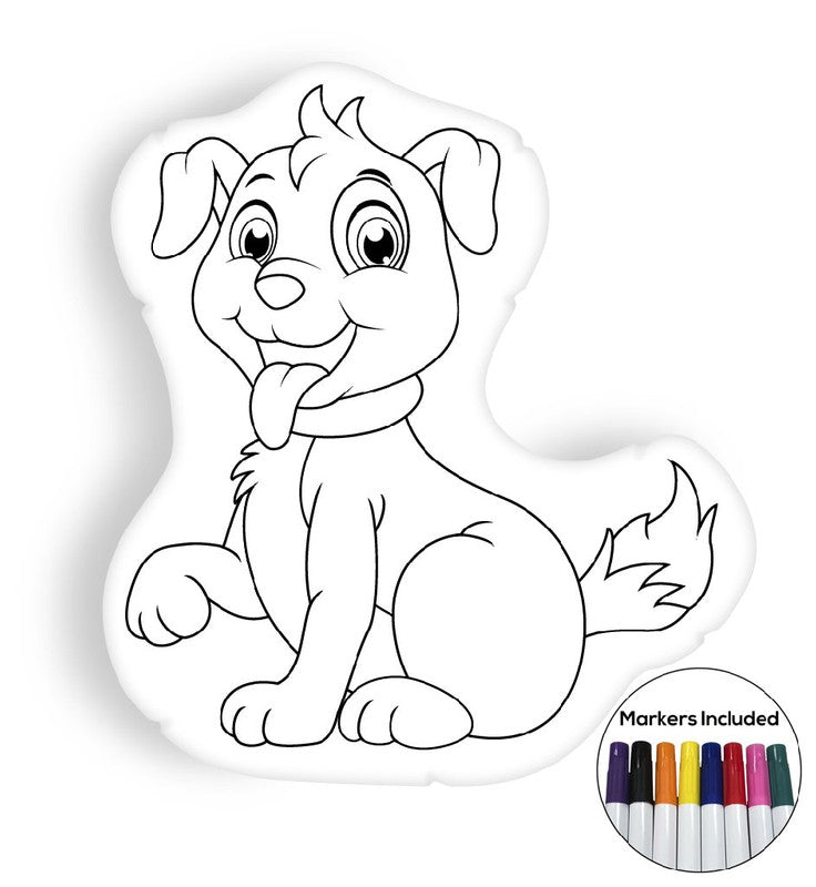 Puppy coloring pillow Made In USA