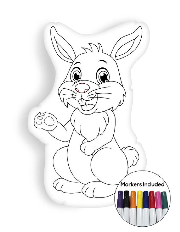 Rabbit coloring pillow Made In USA