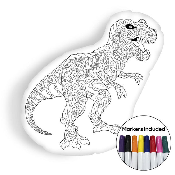 Tyrannosaurus coloring pillow Made In USA