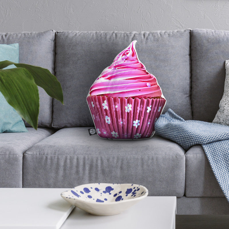 Cupcake Pink Throw Pillow By All About Vibe