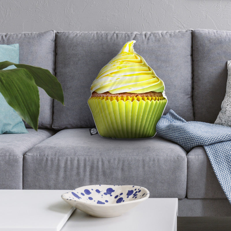 Cupcake Yellow Throw Pillow By All About Vibe