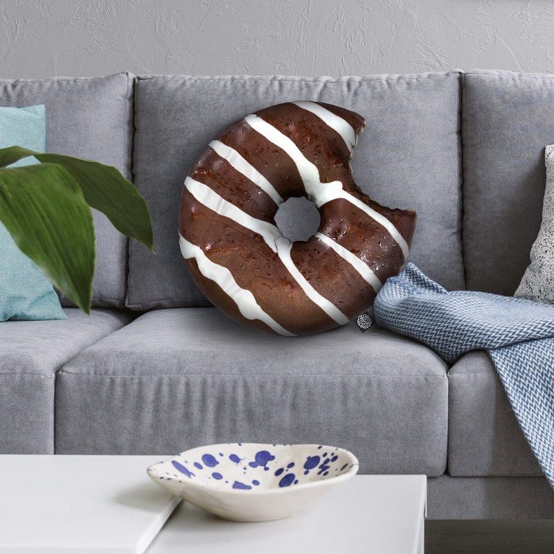 Donut Bitten Ii Throw Pillow By All About Vibe