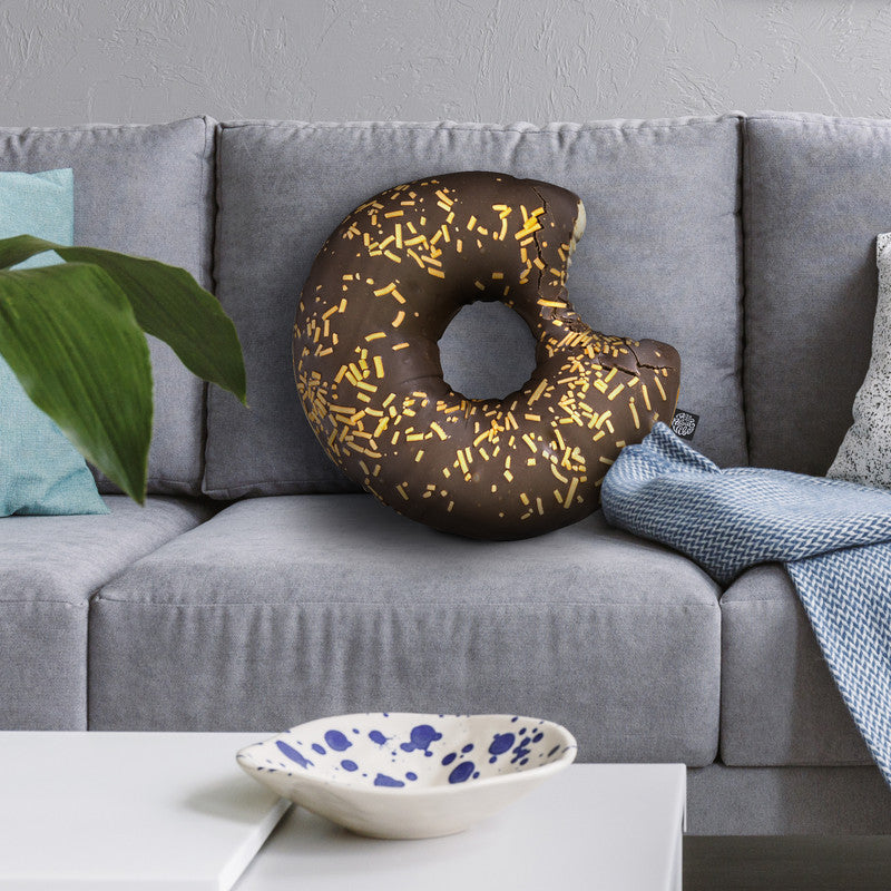 Donut Bitten Iv Throw Pillow By All About Vibe