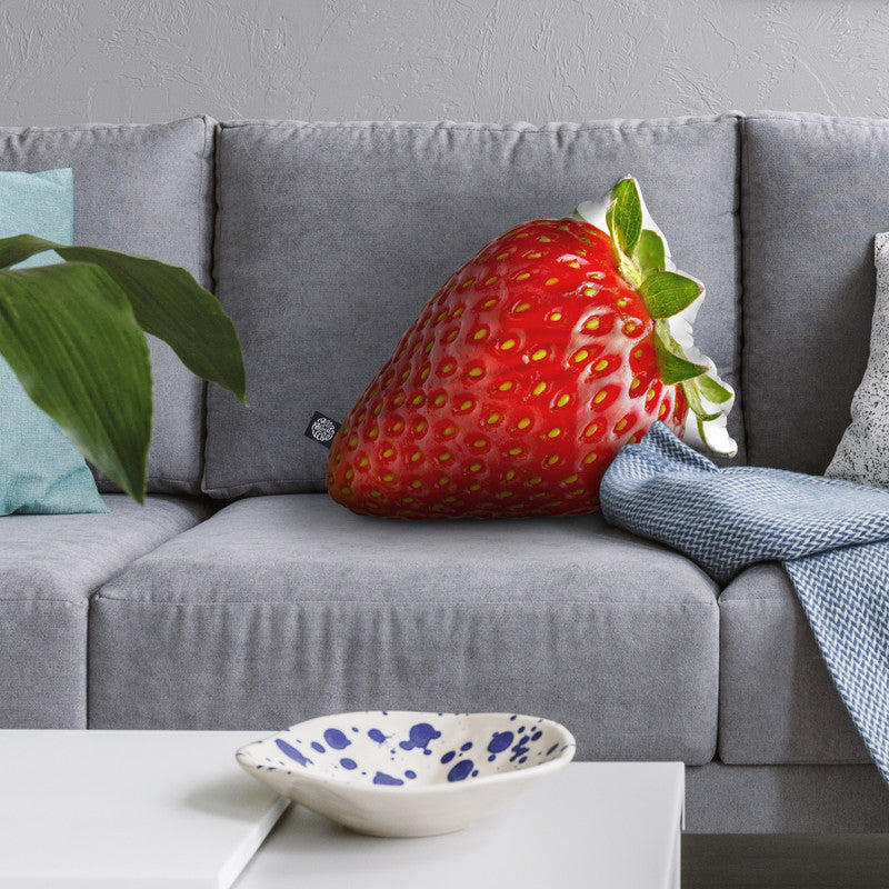 Strawberry Throw Pillow By All About Vibe