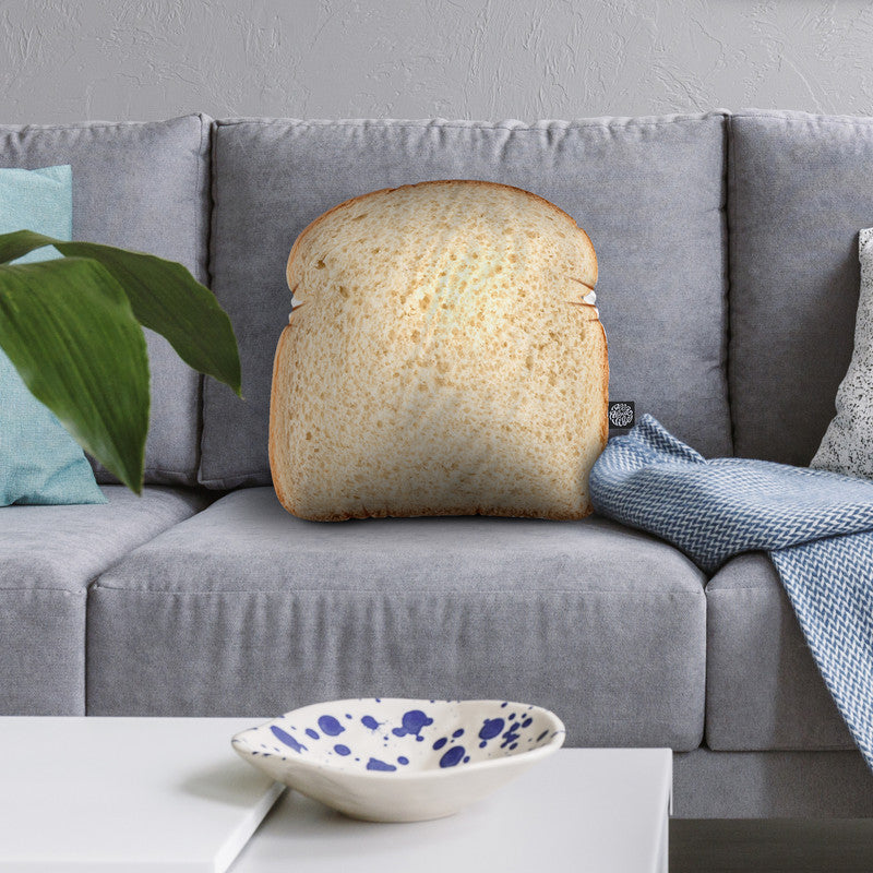 White Bread Throw Pillow By All About Vibe