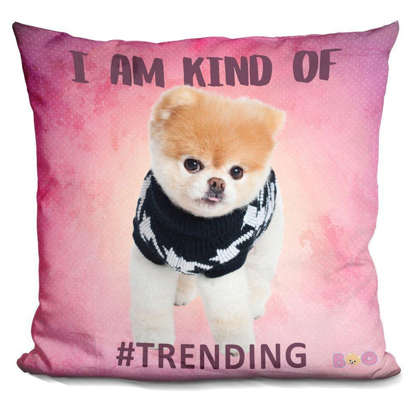 Boo I Am Kind Of #Trending Throw Pillow