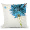 Turquoise Daisy On White Throw Pillow By Jan Griggs