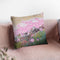 Pink Puffs Throw Pillow By Jan Griggs