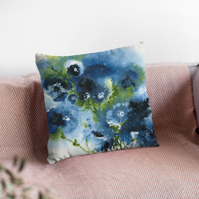 Blue Explosion Throw Pillow By Jan Griggs