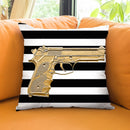 Armed In Gold Throw Pillow by Jodi Pedri