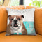For Me Bulldog/For Me Throw Pillow by Jodi Pedri