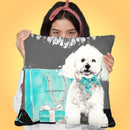 Loved Maltese/Loved Throw Pillow by Jodi Pedri
