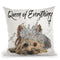Queen Of Everything Yorkie Throw Pillow by Jodi Pedri