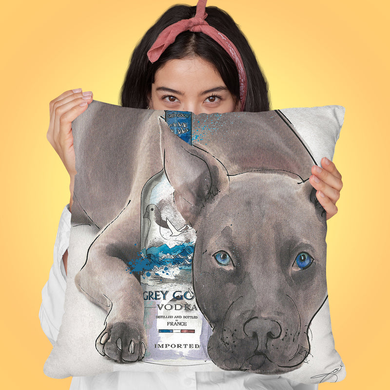 Straight Up Pit Throw Pillow by Jodi Pedri