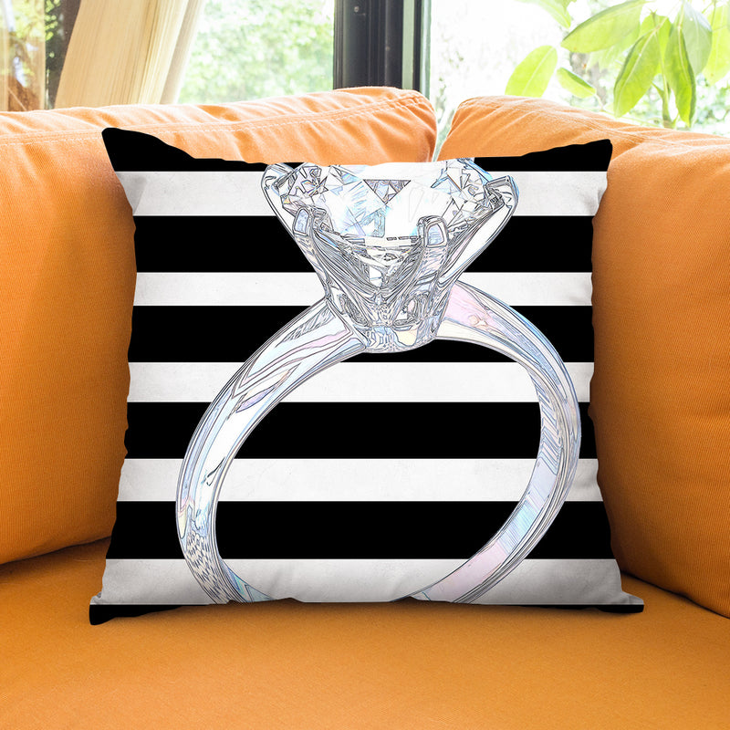 Engaged Throw Pillow by Jodi Pedri