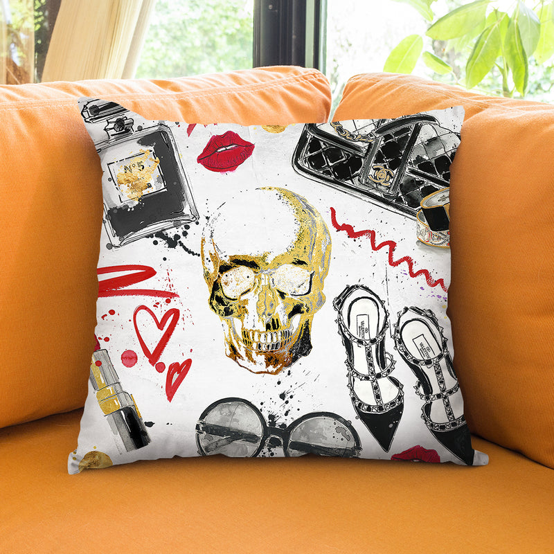 Fashion Victim Throw Pillow by Jodi Pedri