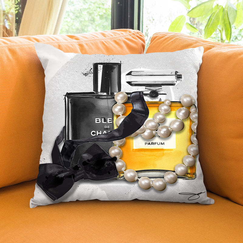 His And Hers Throw Pillow by Jodi Pedri