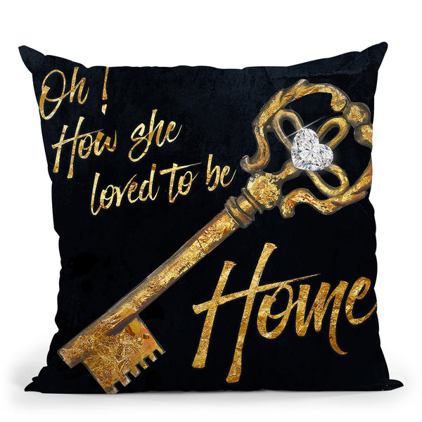 Loved To Be Home Throw Pillow by Jodi Pedri