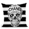 Couture To The Bone Throw Pillow by Jodi Pedri