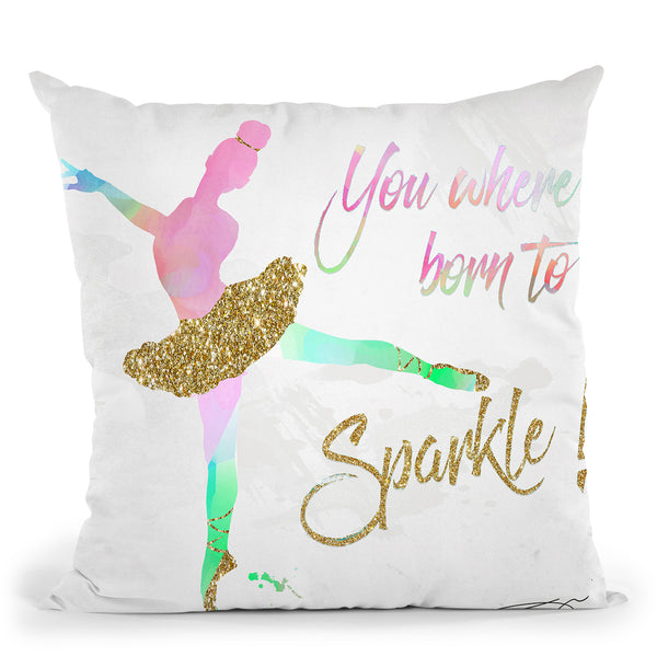 Dancer Sparkle Throw Pillow by Jodi Pedri