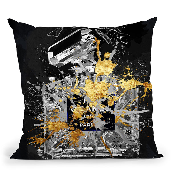 Explode In Black Throw Pillow by Jodi Pedri