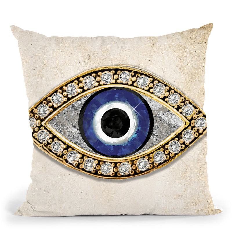 Evil Eye I Throw Pillow by Jodi Pedri